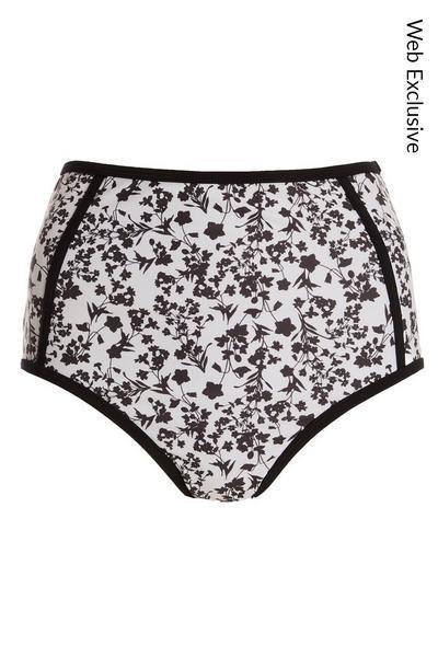White Floral Bikini Bottoms